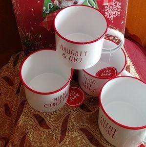 Rae Dunn enamel tin 30.75 fl. Cups